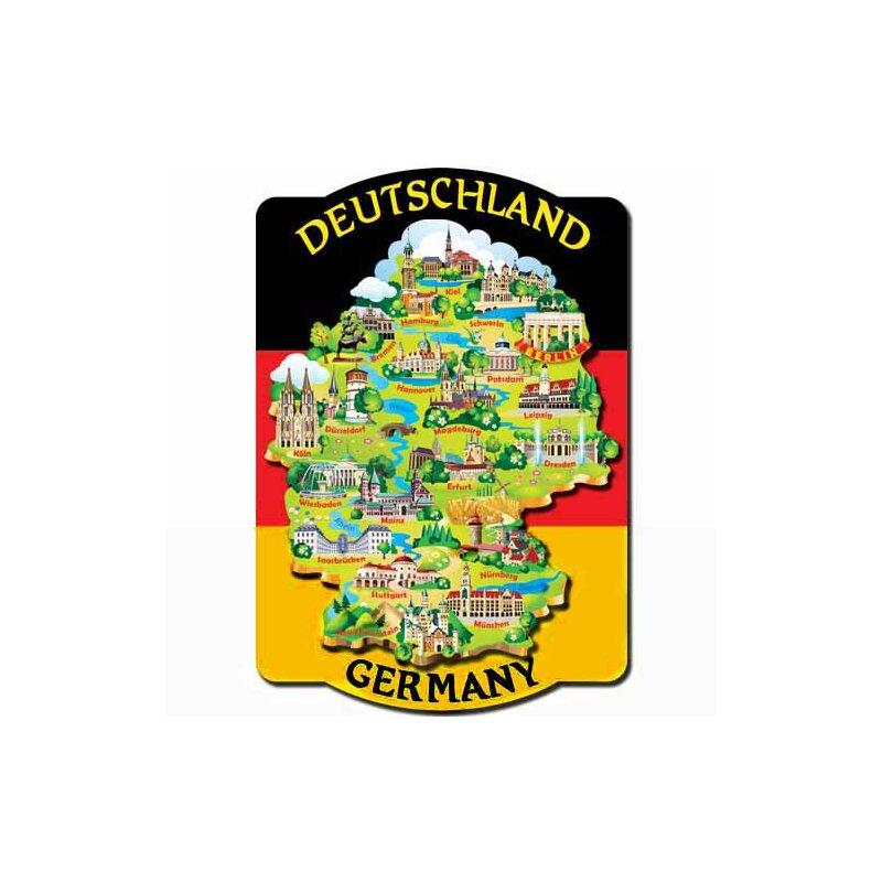 Germany landkarte holz deutschland k hlschrank magent deko for Deko deutschland